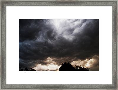 Comes The Storm Framed Print by Randi Kuhne