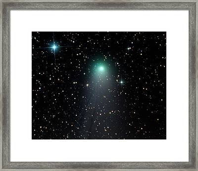 Comet C2012 V2 Framed Print by Damian Peach