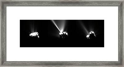 Comet Churyumov-gerasimenko At Perihelion Framed Print by European Space Agency/rosetta/mps For Osiris Team Mps/upd/lam/iaa/sso/inta/upm/dasp/ida