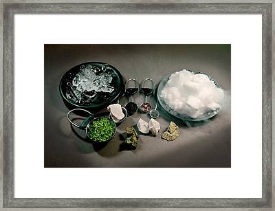 Comet Components Framed Print by Nasa/jpl-caltech/r. Hurt (ssc)