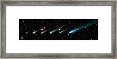 Comet Ison Framed Print by Damian Peach
