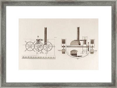 Comet Paddleboat Engine Framed Print by Science, Industry And Business Library/new York Public Library