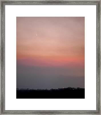 Comet Panstarrs Framed Print by Jason Politte