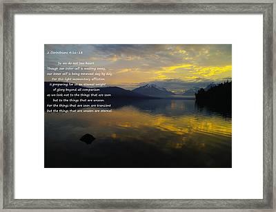 Comfort Framed Print by Jeff Swan