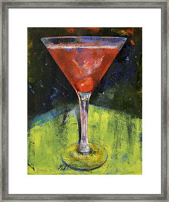 Comfortable Cherry Martini Framed Print by Michael Creese