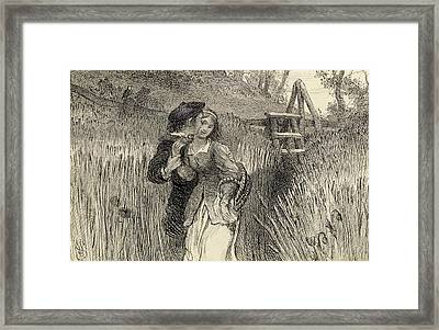 Comin Through The Rye Framed Print by William Bell Scott