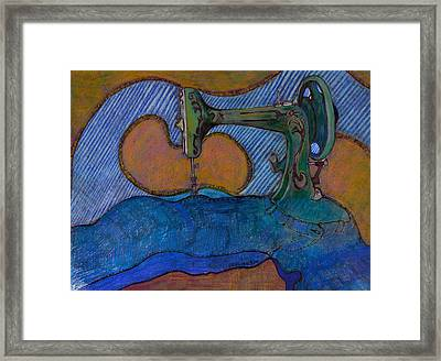 Coming Apart At The Seams Framed Print by Dallas Roquemore