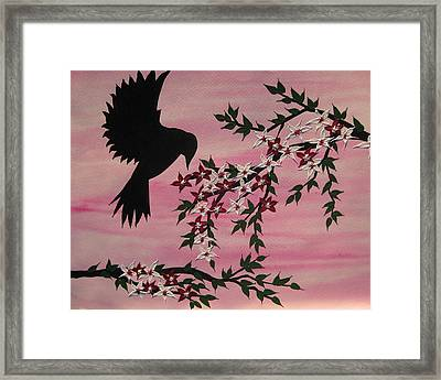 Coming Home To Roost Framed Print by Cathy Jacobs