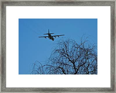 Coming In To Land In Palm Springs Framed Print by Kirsten Giving