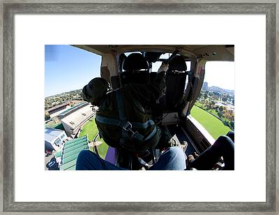 Coming In To Land Framed Print by Paul Job