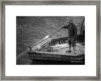 Coming Into Port Framed Print by Pete Hellmann