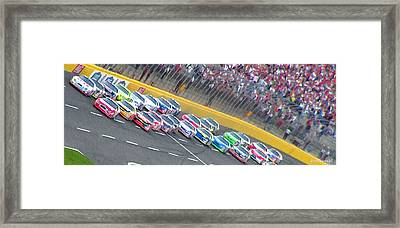 Coming Out Of Turn 4 Framed Print by Kenneth Krolikowski