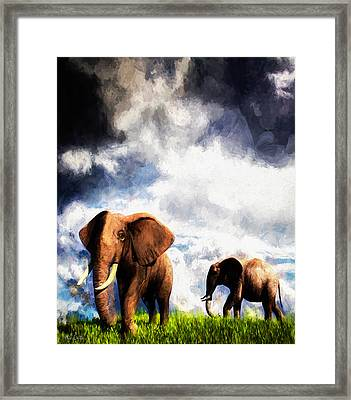 Coming Storm Framed Print by Bob Orsillo