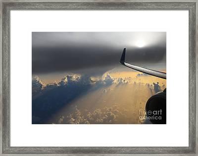 Coming Thru The Storm Framed Print by Bob Hislop