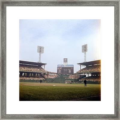 Comiskey Park Photo From The Outfield Framed Print by Retro Images Archive