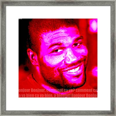 Comment Ca Va Rampage Jackson Framed Print by Greg Hoey