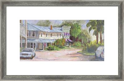 Commerce Street Apalach Framed Print by Susan Richardson