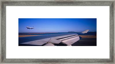Commercial Airplane Taking Framed Print by Panoramic Images