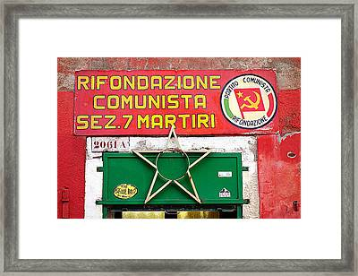 Commie Sign Framed Print by Valentino Visentini