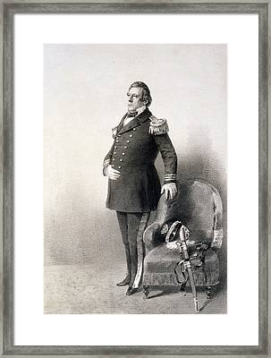 Commodore Matthew Calbraith Perry Framed Print by Wilhelm Heine