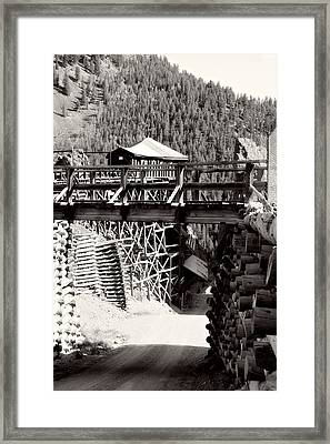 Commodore Ore Bins Framed Print by Lana Trussell