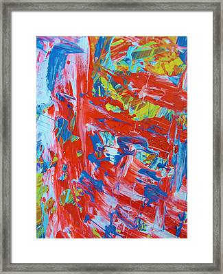Commotion Framed Print by Artist Ai