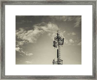 Communication Tower Framed Print by Marco Oliveira