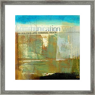 Communication With Framed Print by Jane Davies