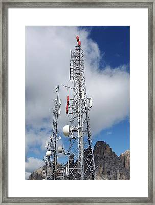 Communications Masts Framed Print by Cordelia Molloy