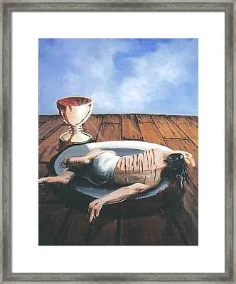 Communion Framed Print by Ricardo Colon