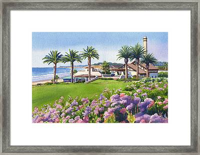 Community Center At Del Mar Framed Print by Mary Helmreich