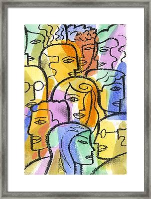Community Framed Print by Leon Zernitsky