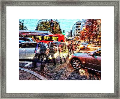 Commuter Ghosts At Rushour Framed Print by Jim Moore
