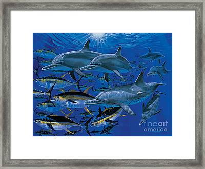 Companions Off00117 Framed Print by Carey Chen