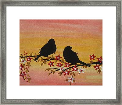 Companionship Framed Print by Cathy Jacobs