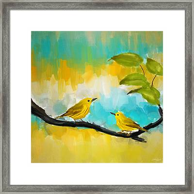Companionship Framed Print by Lourry Legarde