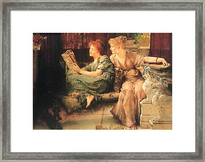 Comparisons Framed Print by Lawrence Alma-Tadema