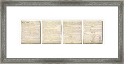 Complete Us Constitution Framed Print by Ron Hedges
