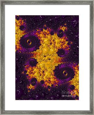 Complimentary - Yellow And Purple Framed Print by Heidi Smith