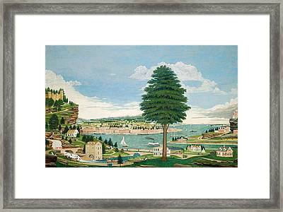 Composite Harbor Scene With Castle Framed Print by Jurgen Frederick Huge