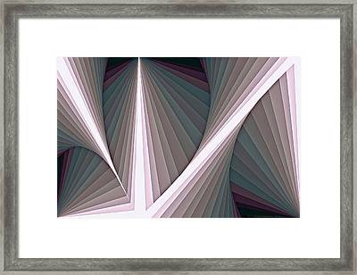 Composition 128 Framed Print by Terry Reynoldson