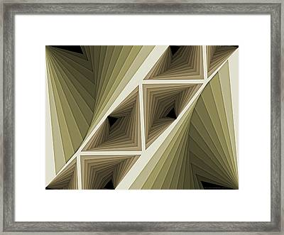 Composition 132 Framed Print by Terry Reynoldson