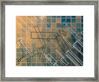 Composition 45 Framed Print by Terry Reynoldson
