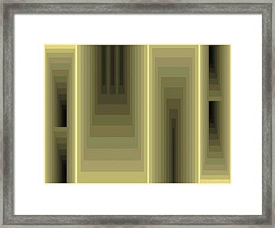 Composition 80 Framed Print by Terry Reynoldson