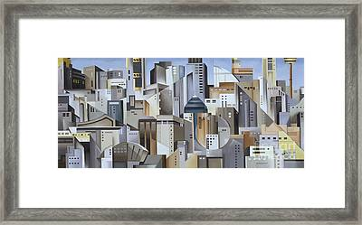 Composition Looking East Framed Print by Catherine Abel