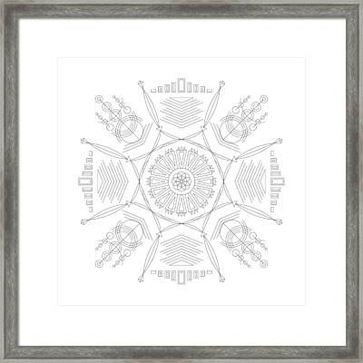 Compression Framed Print by DB Artist