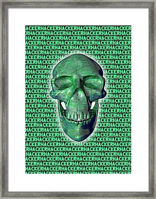 Computer Hacking Framed Print by Victor Habbick Visions