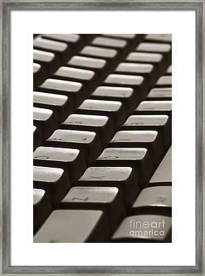 Computer Keyboard Framed Print by Olivier Le Queinec