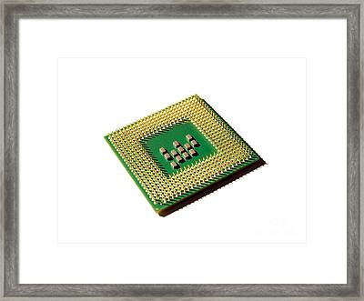 Computer Processor Framed Print by Sinisa Botas