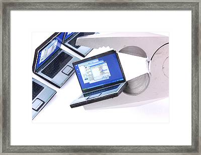 Computer Repairs Framed Print by Simon Bratt Photography LRPS